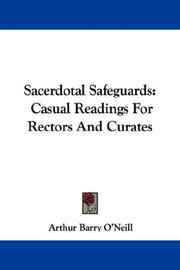 Cover of: Sacerdotal safeguards