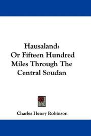 Cover of: Hausaland
