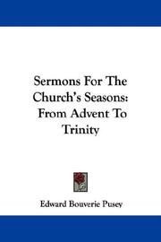 Cover of: Sermons For The Church's Seasons