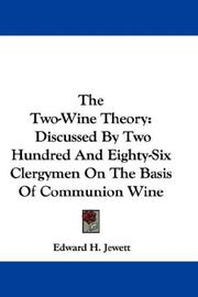 Cover of: The Two-Wine Theory