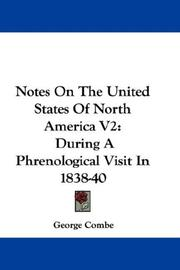 Cover of: Notes On The United States Of North America V2