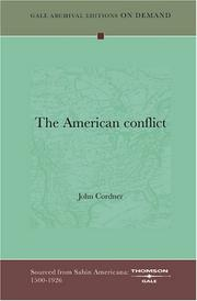 Cover of: The American conflict | John Cordner