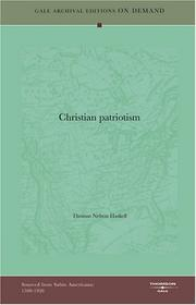 Cover of: Christian patriotism
