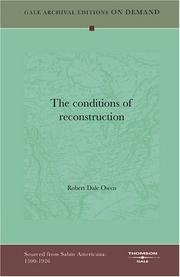 Cover of: The conditions of reconstruction