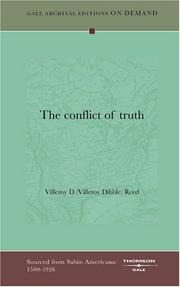 Cover of: The conflict of truth | Villeroy D (Villeroy Dibble) Reed