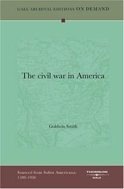 Cover of: The civil war in America: an address read at the last meeting of the Manchester Union and Emancipation Society