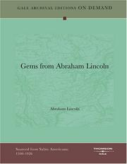 Cover of: Gems from Abraham Lincoln