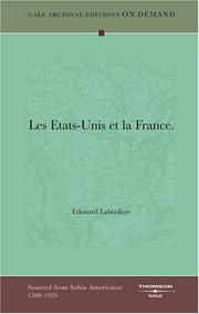 Cover of: Les Etats-Unis et la France