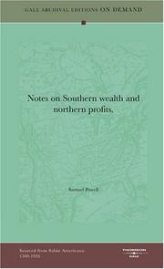 Notes on Southern wealth and northern profits by Samuel Powell