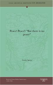 "Cover of: ""Peace! Peace!!"" ""But there is no peace"""