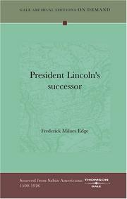 Cover of: President Lincoln's successor