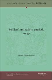 Cover of: Soldiers' and sailors' patriotic songs