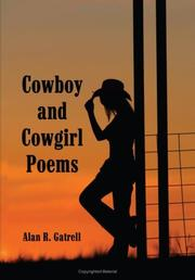 Cover of: Cowboy and Cowgirl Poems | Alan R. Gatrell