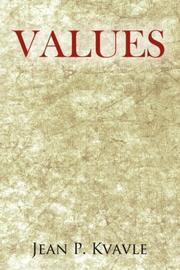 Cover of: Values