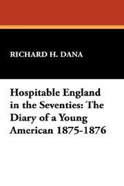Cover of: Hospitable England in the Seventies