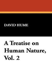Cover of: A Treatise on Human Nature, Vol. 2