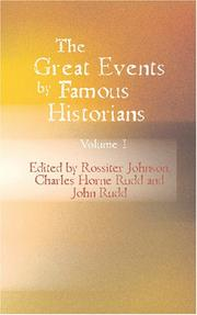 Cover of: The Great Events by Famous Historians Vol. 1