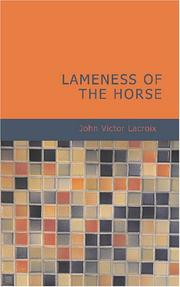 Cover of: Lameness of the Horse