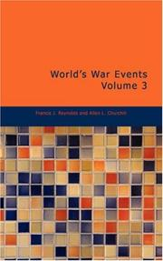 Cover of: World's War Events Volume 3