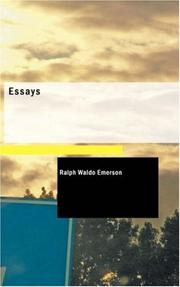 Cover of: Essays | Ralph Waldo Emerson