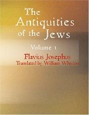 Cover of: The Antiquities of the Jews Volume 1