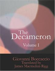 Cover of: The Decameron, Volume I