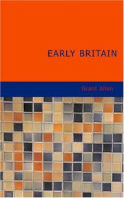 Cover of: Early Britain: Anglo-saxon Britain