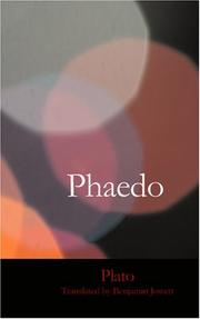 Cover of: Phaedo by Plato