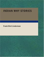 Cover of: Indian Why Stories