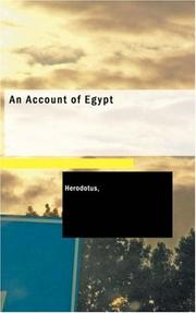 Cover of: An Account of Egypt