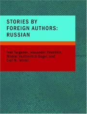 Cover of: Stories by Foreign Authors: Turgenev, Poushkin, Gogol and Tolstoi