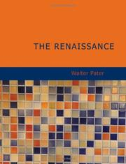 Cover of: The Renaissance (Large Print Edition) | Walter Pater