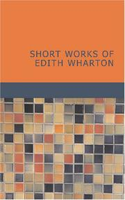 Cover of: Short Works of Edith Wharton