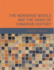 Cover of: The Nonsense Novels and the Dawn of Canadian History