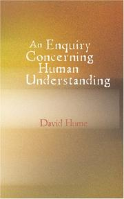 Cover of: An Enquiry Concerning Human Understanding | David Hume