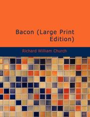 Cover of: Bacon (Large Print Edition) by Church, Richard William