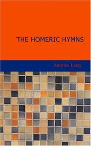 Cover of: The Homeric Hymns: A New Prose Translation and Essays Literary and Mythological