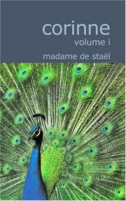 Cover of: Corinne; Volume 1