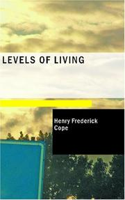 Cover of: Levels of Living | Henry Frederick Cope