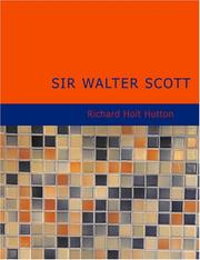 Cover of: Sir Walter Scott: (English Men of Letters Series)