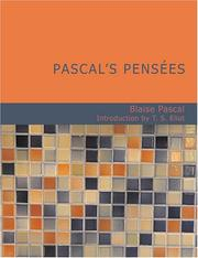 Cover of: Pascal's Pensées