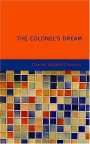 Cover of: The Colonel's Dream