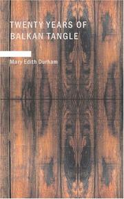 Cover of: Twenty Years of Balkan Tangle | Mary Edith Durham