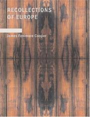 Cover of: Recollections of Europe