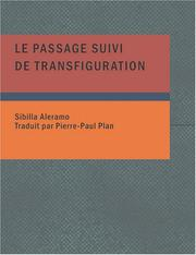 Cover of: Le Passage suivi de Transfiguration