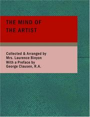 Cover of: The Mind of the Artist (Large Print Edition) | Cicely Margaret Powell Binyon