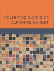 Cover of: Collected Works of Alphonse Daudet