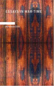 Cover of: Essays in War-Time | Havelock Ellis
