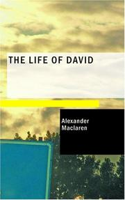 Cover of: The Life of David