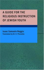 Cover of: A Guide for the Religious Instruction of Jewish Youth